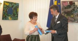 Maria Ciobanu decorată de președintele României
