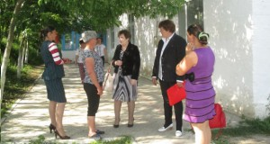 Întîlnire cu cetățenii în satul Găureni, raionul Nisporeni
